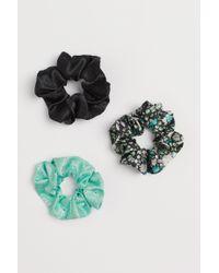 H&M Green 3er-Pack Scrunchies