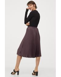 H&M Purple Pleated Skirt