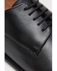 H&M Black Leather Derby Shoes for men