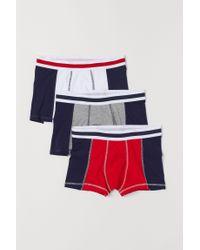 H&M 3er-Pack Kurze Trunks in Red für Herren
