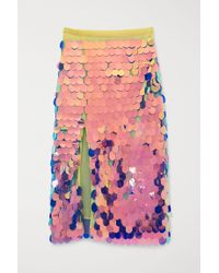 H&M Yellow Sequined Skirt