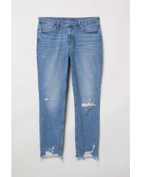 H&M Blue H & M+ Girlfriend Regular Jeans