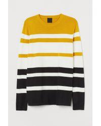 H&M Pullover aus Baumwollmix in Yellow für Herren