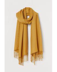 H&M Yellow Gewebter Schal