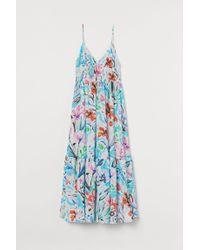 Robe longue en tissu texturé H&M en coloris White