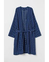 H&M Blue Baumwollkimono
