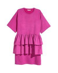 Tunique à volants H&M en coloris Pink