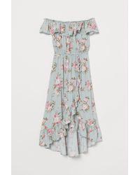 H&M Blue Off-Shoulder-Kleid