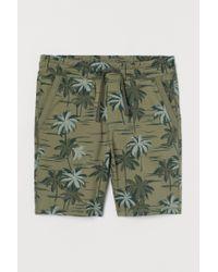 H&M Green Sweatshirt Shorts for men