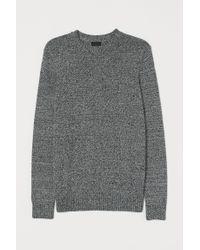 H&M Pullover aus Baumwollmix in Black für Herren