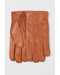 H&M Lederhandschuhe in Yellow für Herren