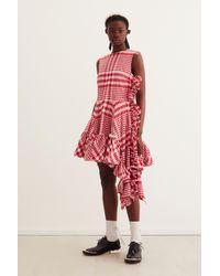 H&M Red Asymmetric Cotton Dress