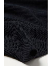 H&M Black Knitted Tube Scarf