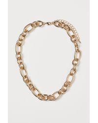 H&M Metallic Kurze Halskette