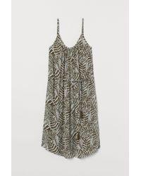 H&M Green Crinkled Dress