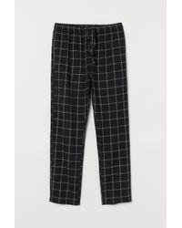 Pantalon de pyjama en flanelle H&M pour homme en coloris Black