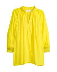 Blouse à encolure en V H&M en coloris Yellow