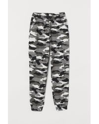 H&M Gray Patterned Cargo Trousers