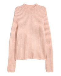 H&M Pink Rib-knit Sweater