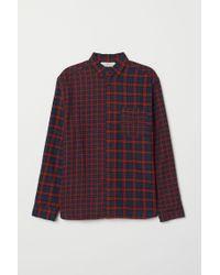 Chemise en flanelle H&M pour homme en coloris Red