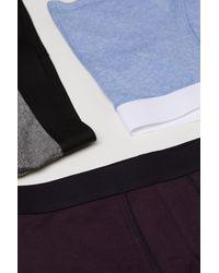 H&M - Blue 3-pack Short Boxer Shorts for Men - Lyst