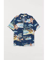 Chemise Relaxed Fit H&M pour homme en coloris Blue
