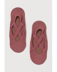 H&M Pink Anti-slip Yoga Socks