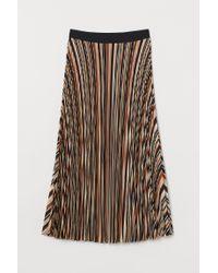H&M Orange Pleated Skirt