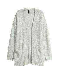 H&M White Knitted Cardigan