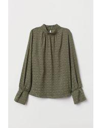 Blouse à col droit H&M en coloris Green