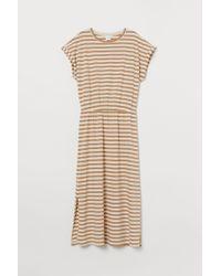 H&M Natural Kleid aus Modalmischung