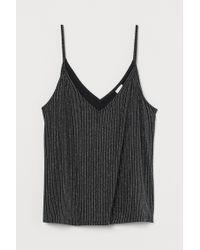 H&M Black Glittery Strappy Top