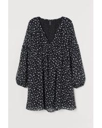 Robe trapèze H&M en coloris Black