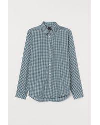 Chemise Slim Fit H&M pour homme en coloris Blue