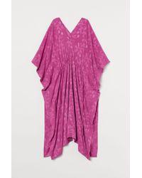H&M Pink Kaftan aus Jacquardstoff