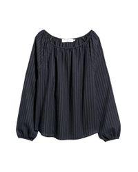 Blouse en coton H&M en coloris Black