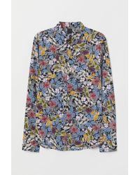 H&M Blue Patterned Shirt for men