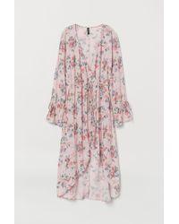 Robe portefeuille à motif H&M en coloris Pink