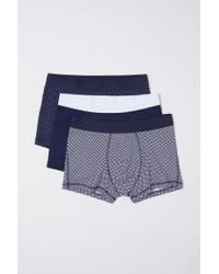 H&M 3er-Pack Kurze Trunks in Blue für Herren