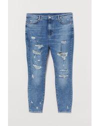 H & M+ Super Skinny High Jeans H&M en coloris Blue