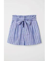 Short rayé en coton H&M en coloris Blue