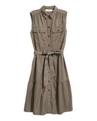 H&M Green Kleid aus Lyocellmischung