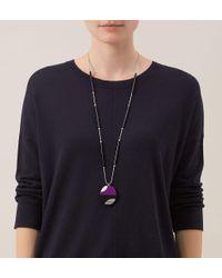 Hobbs - Purple Kat Pendant - Lyst