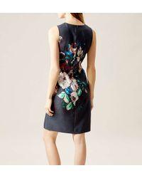 Hobbs - Black Painted Blooms Dress - Lyst