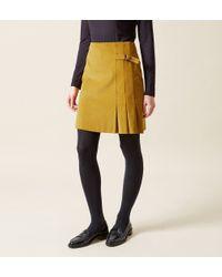 Hobbs Yellow Judith Cord Skirt