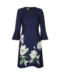 Hobbs Blue Navy 'magnolia' Dress