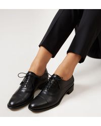 Hobbs - Black 'faye' Oxford Shoes - Lyst