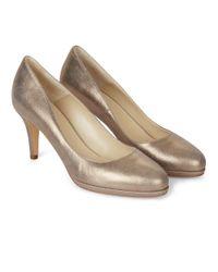 Hobbs - Metallic Gold 'jennifer' Court Shoes - Lyst