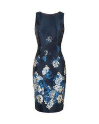 Hobbs Blue Yen Dress