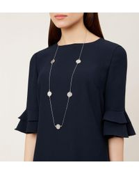 Hobbs - Metallic Lily Necklace - Lyst